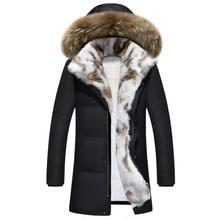 Зимний мужской и женский пуховик высокого качества, мужской модный пуховик из кроличьей шерсти, повседневные утепленные парки, пальто для мужчин, S-5XL
