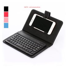 Bluetooth Wireless Keyboard with PU Leather Case Protective Cover for iPhone iPad Huawei Xiaomi Samsung Mobile Phone Tablet portable pu leather wireless keyboard case for iphone protective mobile phone with bluetooth keyboard for iphone