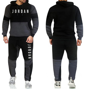 Brand Fashion Tracksuit Warm and Velvet Men Sport   2