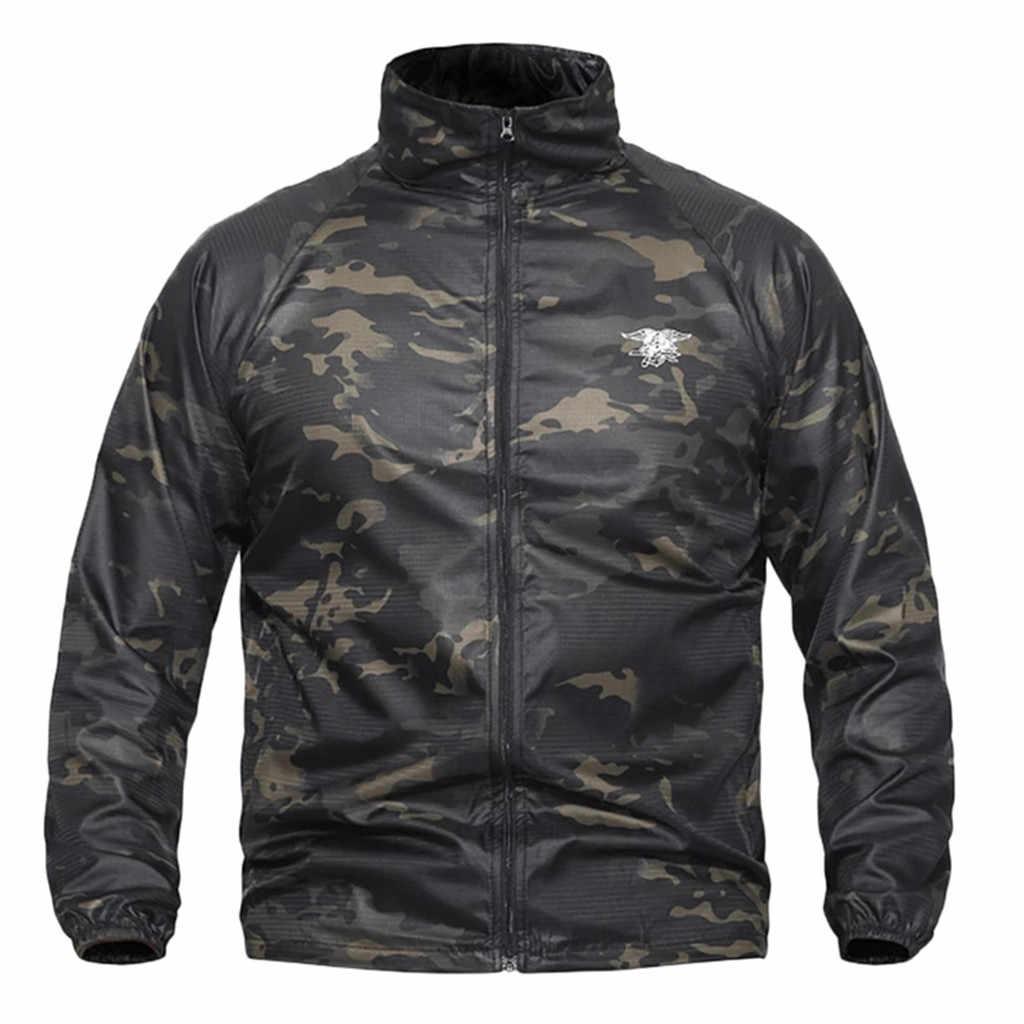 JAYCOSIN męska płaszcze mężczyźni kobiety wodoodporna kurtka wiatrówka męskie taktyczne kurtki soft shell człowiek wojskowy wodoodporny z golfem