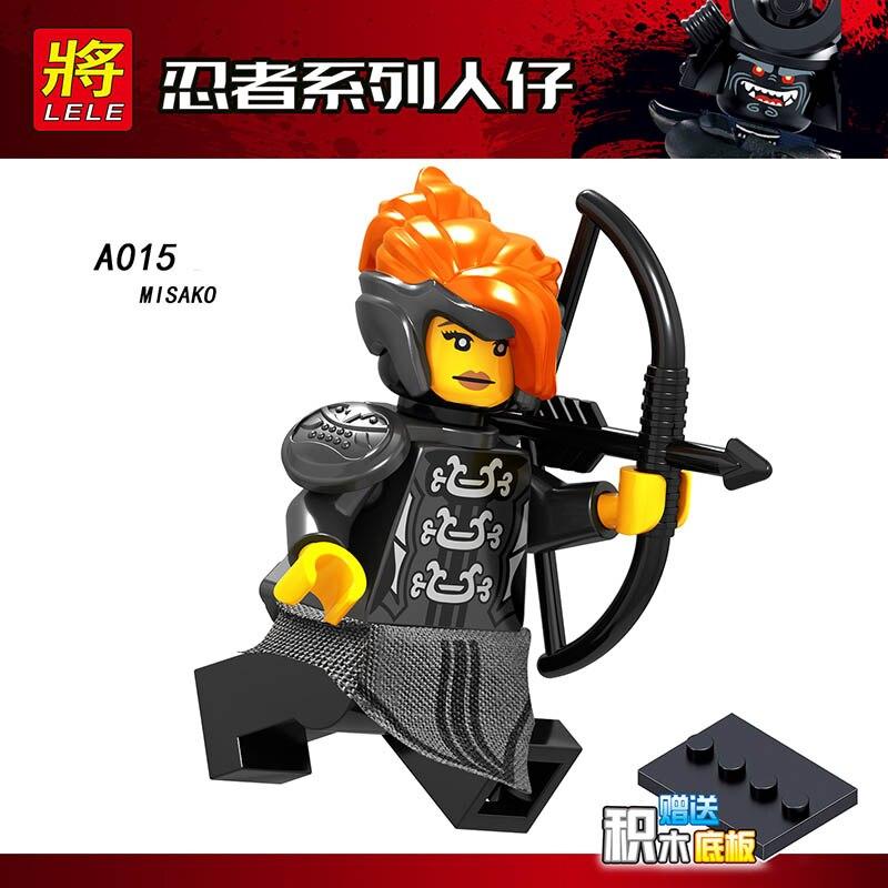 Single Sale Compatible Legoinglys Ninjagoed Figure SNAKE JAGUAR  LUKE CUNNINGHAM ULTRA VIOLET Bricks Collection Toys Boys Gifts