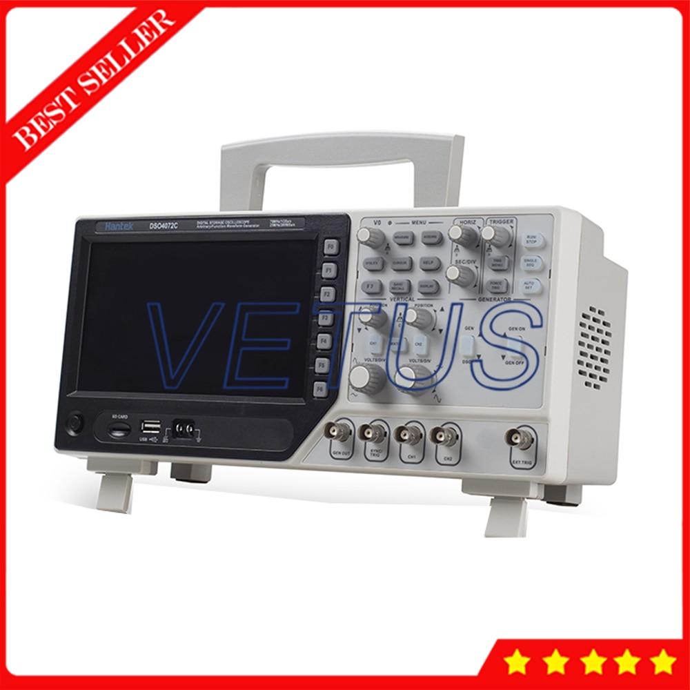 Hantek DSO4072C USB 2 Channels Digital Oscilloscope 70Mhz Waveform Generator