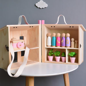Wooden Pretend Play Doll House