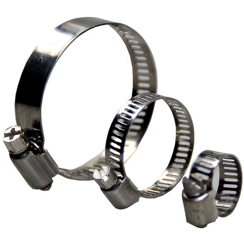 WZJG ücretsiz kargo 10 adet paslanmaz çelik ayarlanabilir sürücü hortum kelepçesi yakıt hattı solucan boyutu klip Hoop hortum kelepçesi sıcak satış