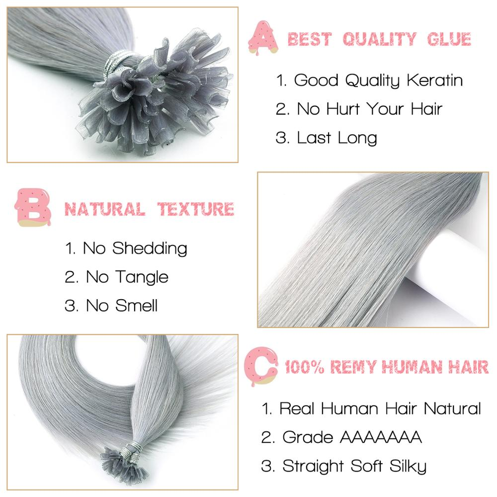 CLEARANCE Nail U Tip Hair Neitsi Double Drawn Remy Human Fusion Hair Pre Bonded Capsules Hair Extensions