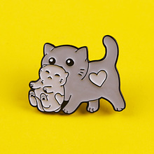 Warm Cats Brooch Lovely Cat Badges for Backpack Enamel Pins Badges for Clothes Badge Clothes Lapel Pin Accessories Jewelry Gift