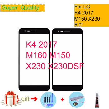 For LG K4 2017 Phoenix 3 M150 M160 X230 Touch Screen Front Glass Panel Front Outer Glass Lens K4 2017 LCD Glass Replacement силиконовый супертонкий чехол для lg k4 df lgcase 03