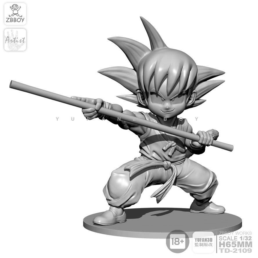 65MM Resin Kits Goku Resin Soldier Model Self-assembled TD-2109