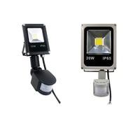 LED Flood Light with Motion Sensor Waterproof AC110V 220V PIR LED Floodlight Outdoor Projector Lamp Spotlight for Garden|Floodlights|   -