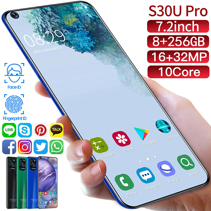 2020 S30U PRO 7.2 Inches Android 10 System Full Screen Ultrabook 8 + 256G Screen Fingerprint Unlocking Facial Recognition(China)