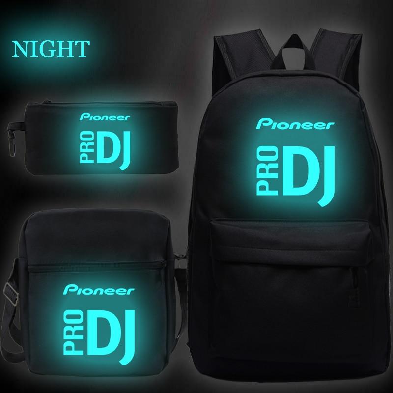 2020 Pioneer Pro Dj Print 3pcs/set School Bags For Teenager Boys Girls Bagpack Women Men Mochila Backpacks