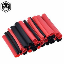 great it  1set=150PCS 7.28m Black And Red 2:1 Assortment Heat Shrink Tubing Tube Car Cable Sleeving Wrap Wire Kit