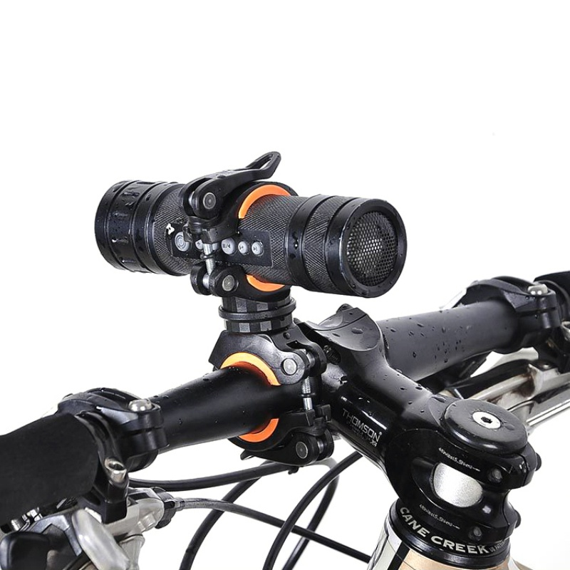 360 Degree Bicycle Rotating Light Holder LED Front Flashlight Lamp Clip Stand Handlebar Torch Mount Air Pump Bracket 77