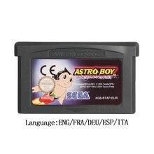 Para nintendo gba vídeo game cartucho console cartão astro boy omega fator versão da ue