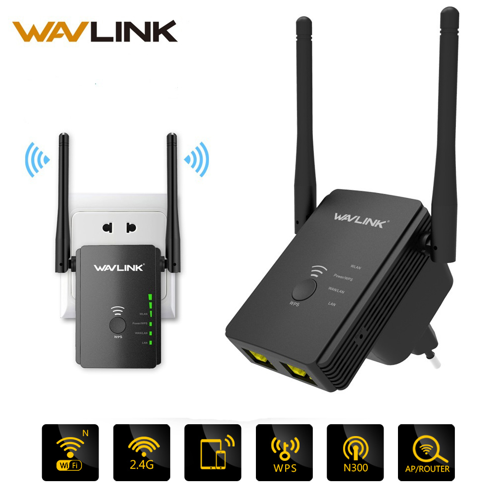 Wavlink Wireless Router Repeater Extender-Mode Universal Range 300mbps 2-Antennas