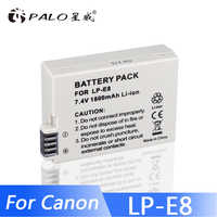 PALO LPE8 Battery Pack LP-E8 Bateria LP-E8 LP E8 For Canon 550D 600D 650D 700D X4 X5 X6i X7i T2i T3i T4i T5i DSLR Camera 0.11