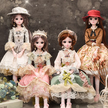 60cm Fashion Dolls For Girls Toy Simul Plastic Dress Up Jointed DIY Smart Big Princess Doll Decorative For Girls Birthday Gift