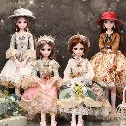 Модные куклы для девочек, 60 см, игрушка, многоразовая пластиковая кукла «сделай сам», «Умная большая принцесса», декоративная кукла для дево...