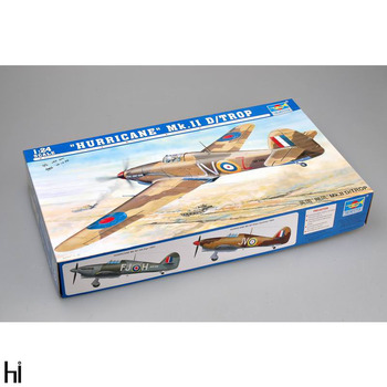 Trumpeter 1/24 02417 British Hawker Hurricane MkIID Tropical Fighter Plane Aircraft Military Assembly Plastic Model Building Kit image