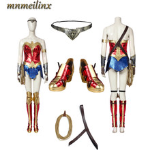 2020 New arrivals Wonder Woman 1984 Cosplay Costume Diana Prince Costume Halloween Outfit Women's Closthing Dress(China)