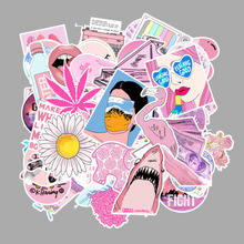 Stickers 103PCS/SET Vsco Girl Pink Style Fashion Pattern On Laptop The Fridge Car Decor For Phone Luggage