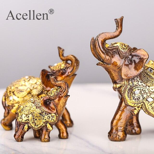 Szczęście Feng Shui ziarno drewna słoń statua rzeźba bogactwo figurka prezent rzeźbione z kamienia naturalnego na blat dekoracji