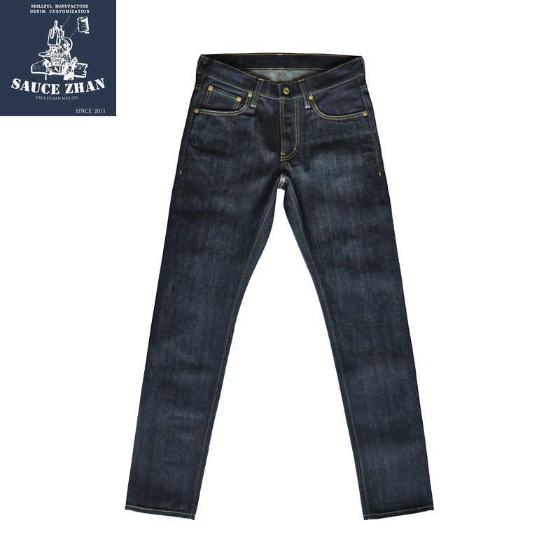SauceZhan 310XX-JP 일본 오카야마 원단 Selvedge 청바지 Raw Denim 청바지 Unwashed 청바지 일본 남성 청바지 Slim Fit Jeans
