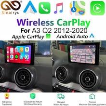 Sinairyu Drahtlose Apple Carplay Lösung für Audi A3 3G/3G MMI Original Bildschirm Unterstützung MirrorLink Zurück/vorne Kamera