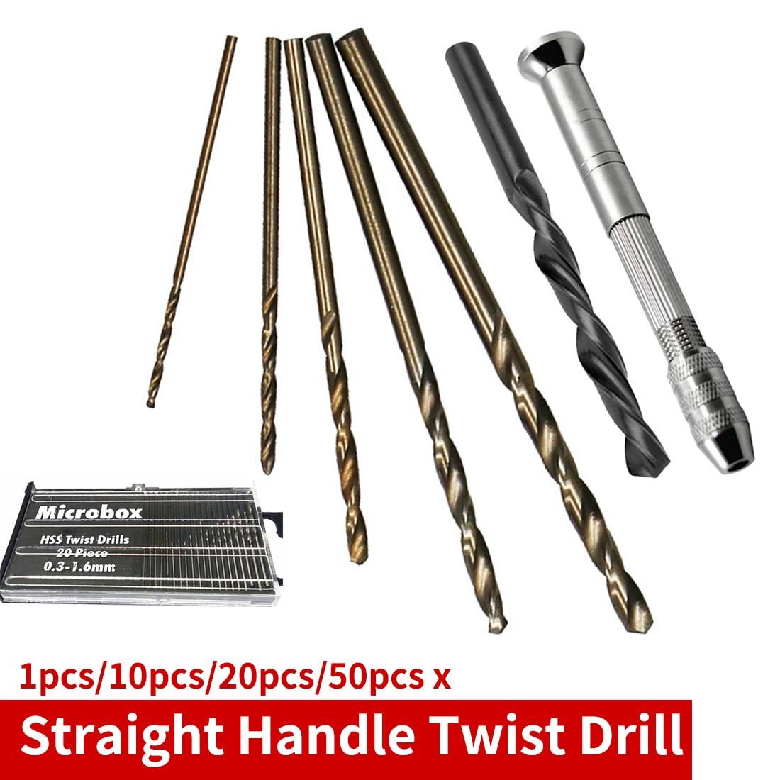 1pc/10pcs/20pcs/50pcs Twist Hole Drill Bit Set HSS M35 Co Drill Bit 1mm 1.5mm 2mm 2.5mm 3mm For Steel/Stainless Steel/Wood