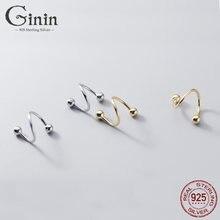 Ginin простой винт вращающийся глянцевый бусины 925 стерлингового