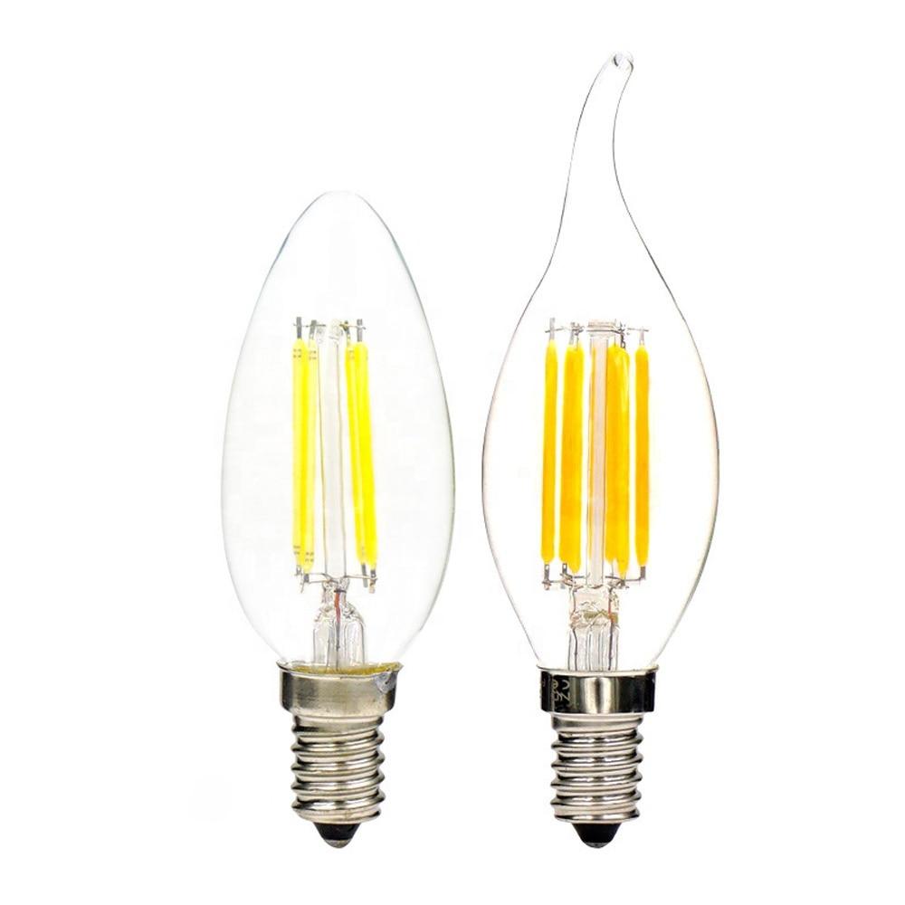 Энергосберегающая лампа нового дизайна, 4 Вт 8 Вт 12 Вт E14, светодиодный светильник в форме свечи, 220 В, C35, C35L, светодиодный светильник с филамен...