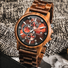 Wooden Watch Men Luxury Stylish Casual Wood Timepieces Chron