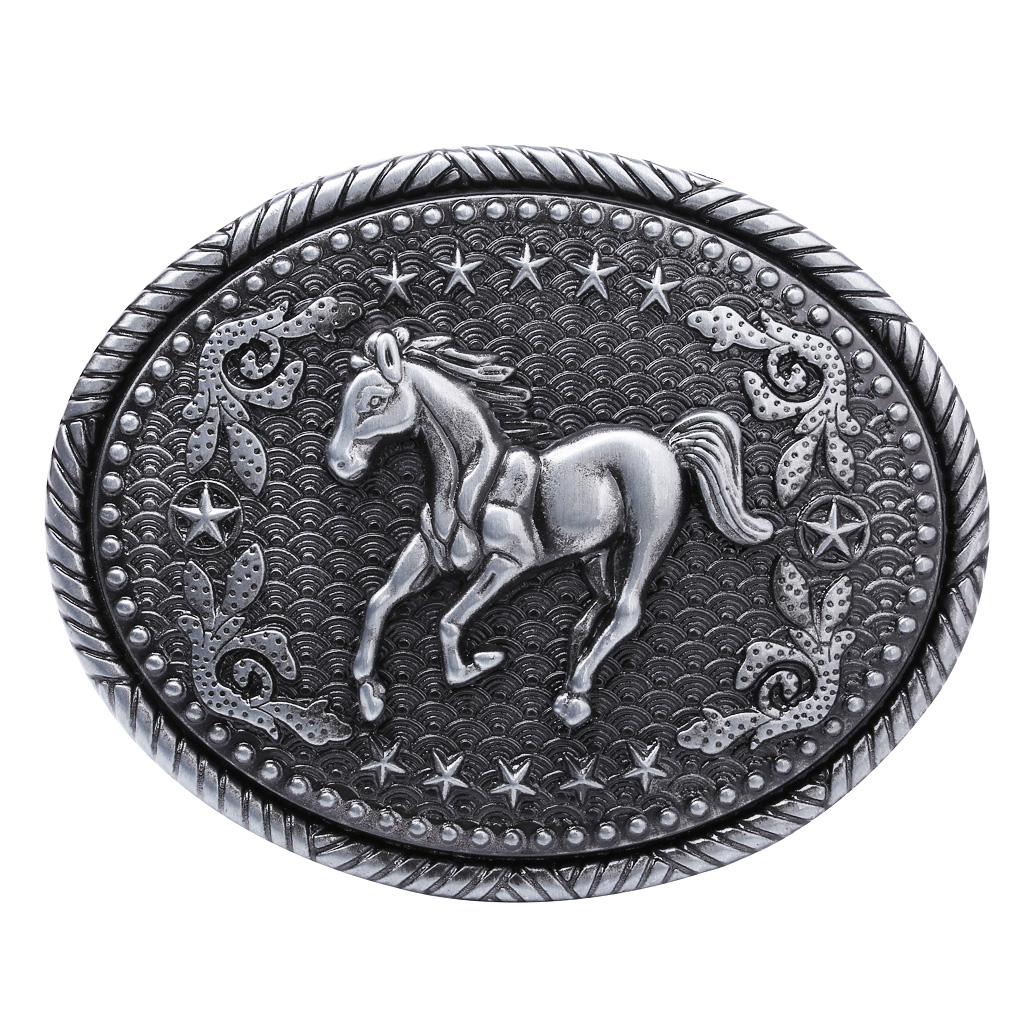 Horse Motif Belt Buckle Belt Buckle Western American Buckle For Men Women