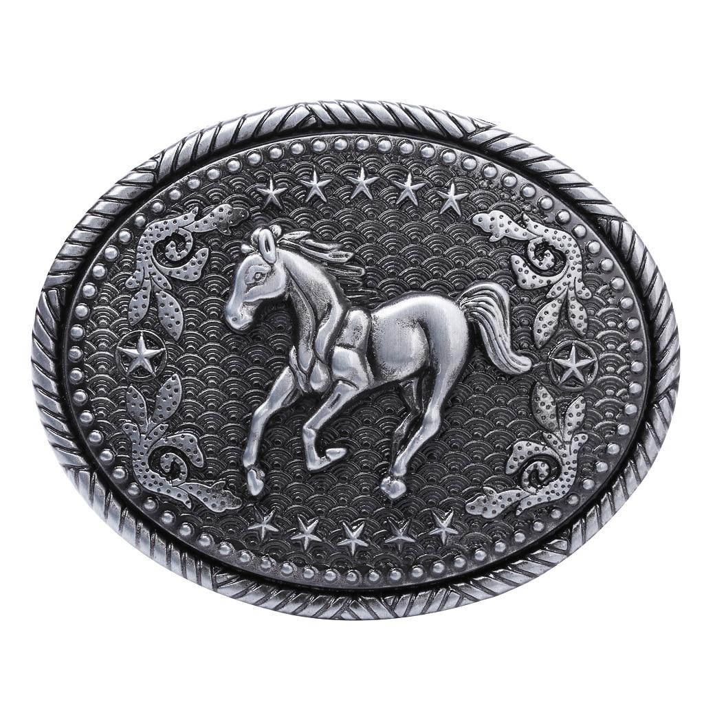 Horse Motif Belt Buckle Belt Buckle Western American Buckle For Men Women