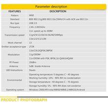 2.4G WIFI USB Lan Adapter Antenna Wireless Receiver Net-work Card for Windows N58E