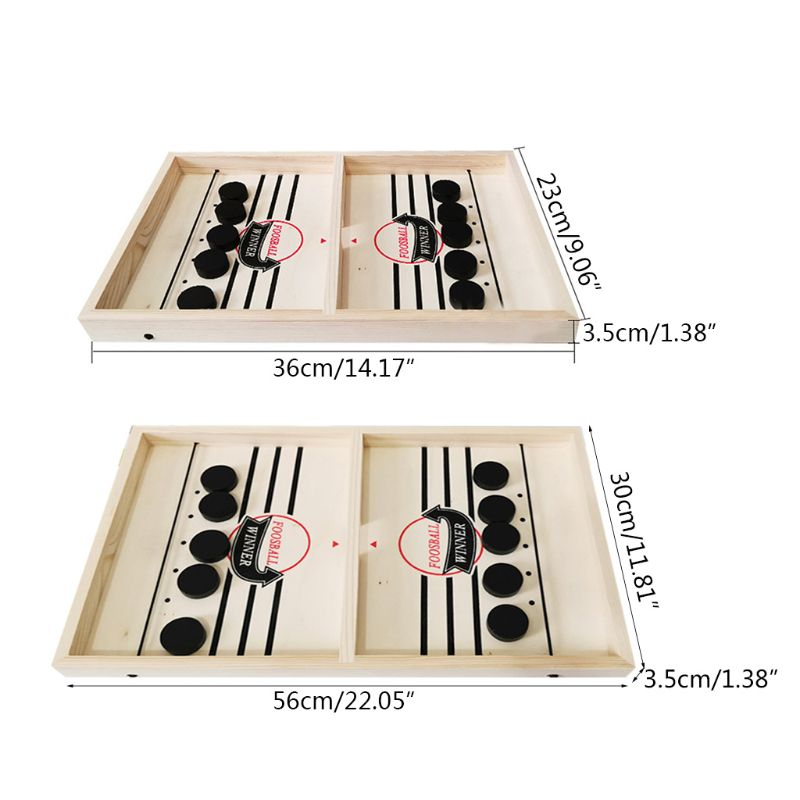 Slingshot Table Hockey Party Game, Bouncing Chess Hockey Game 448C