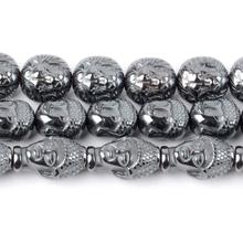 20 Pcs Buddha Lion Hematite Stone Beads Round Loose Spacer Natural Beads for Jewelry Making Bracelet Necklace Diy Handmade
