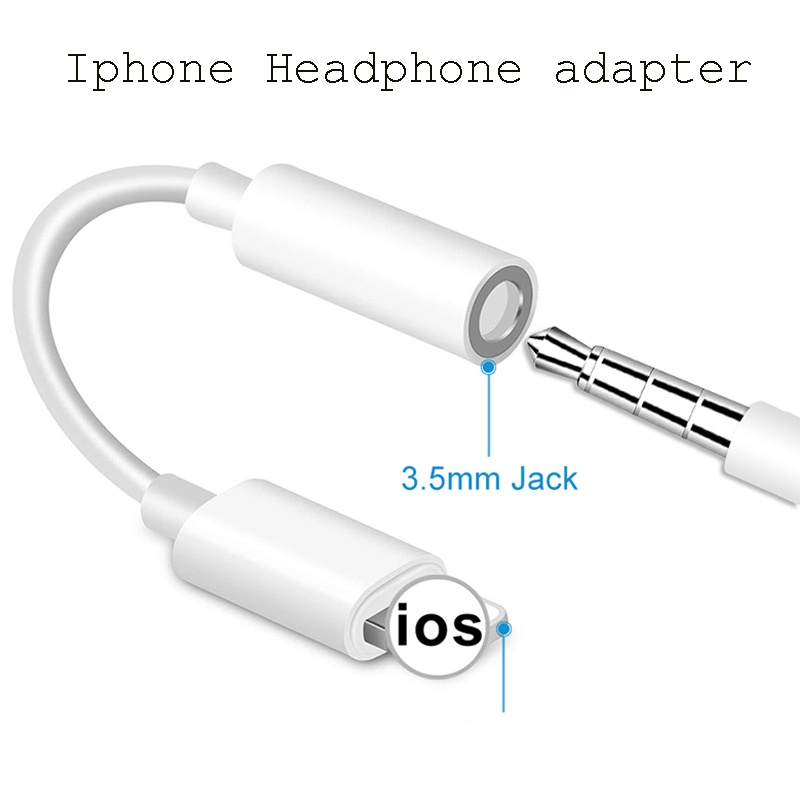Headphone Jack Cable IOS 11 12 13 Headphone-Adapter For IPhone 7 8 Plus X XS XR To 3.5mm Male Adapters AUX Adapter For IPhone