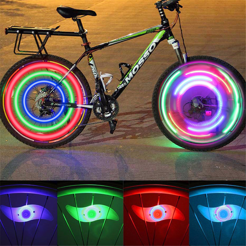 3 Lighting Mode LED Neon Bicycle Wheel Spoke Light Waterproof Color Bike Safety Warning Light Cycling Light Bicycle Accessories