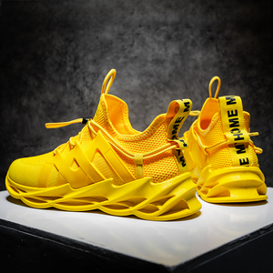 2020 New Trend Blade Sneakers Men mesh Casual Shoes Men Thick Sole Chunky Sneakers Yellow Orange Slip On Blade Shoes Tenis(China)