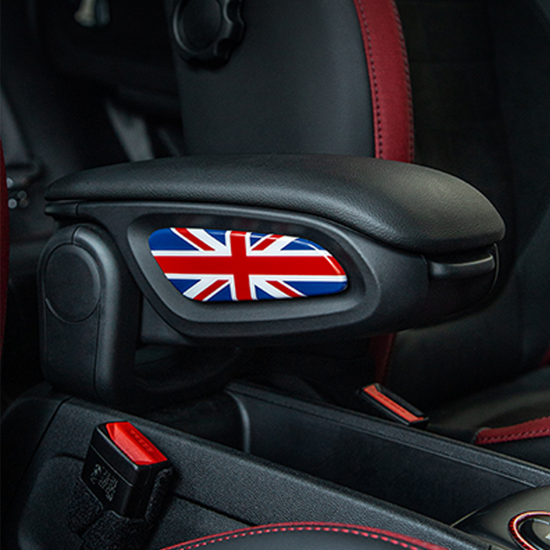 Car Front Seat Armrest Box Decoration Sticker For BMW MINI Countryman Cooper S F60 Car Interior Styling Modification Accessories