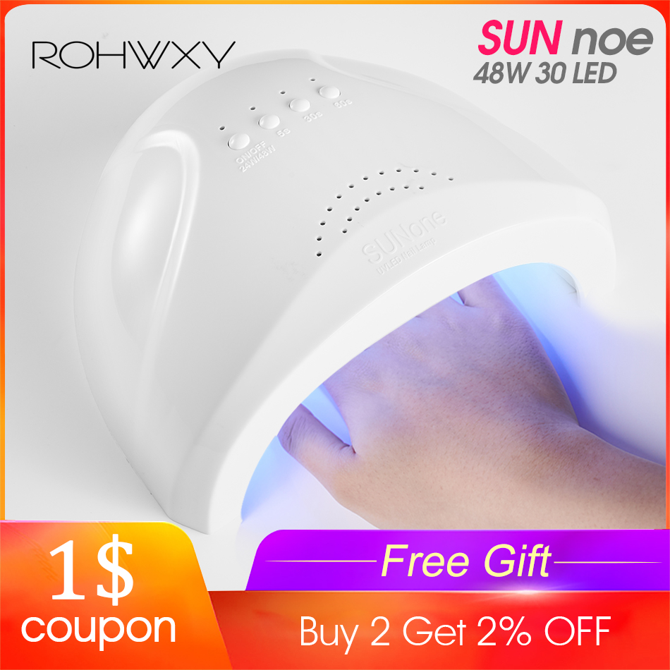 ROHWXY Nagel Trockner Für Nagel LED UV Lampe 36/48W USB Nagel Lampe Für Maniküre LCD Display Trocknen alle Gele Nagellack Nail art Werkzeuge