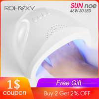 ROHWXY Nail Dryer For Nail LED UV Lamp 36/48W USB Nail Lamp For Manicure LCD Display Drying All Gels Nail Polish Nail Art Tools