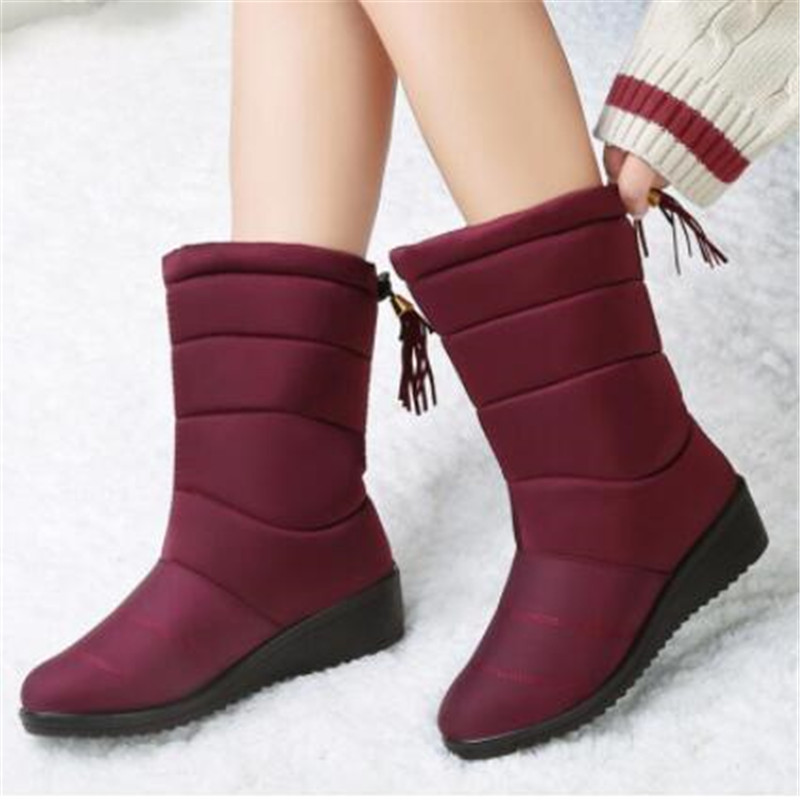 2020 Winter Snow Boots Waterproof Ankle Boots For Women Boots Female Shoes Women Booties Plush Warm Women Boots Mujer Eu 35-44 image
