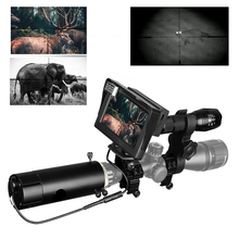 850nm אינפרא אדום DIY ראיית לילה מכשיר היקף Sight יום הלילה חיצוני שימוש כפול LCD מסך & לייזר פנס & הסוואה קלטת