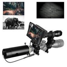 850nm infrarrojo DIY dispositivo de visión nocturna mira día noche al aire libre doble uso pantalla LCD y linterna láser y camuflaje cinta
