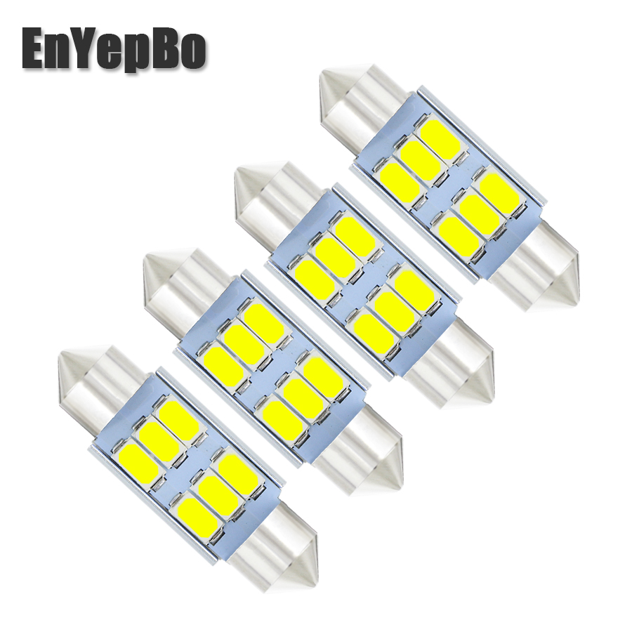 4Pcs C5W 39mm Canbus Error Free License Number Plate Light <font><b>LED</b></font> Bulbs For <font><b>BMW</b></font> 3 5 series <font><b>E36</b></font> E46 E34 E39 E60 X5 E53(00-07) M5 image