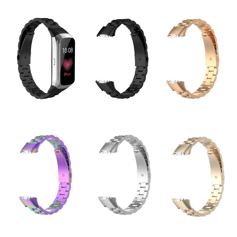 Stainless Steel Watch Band Quick Release Wrist Strap Replacement For Samsung Galaxy Fit SM-R370 Watch T4MD