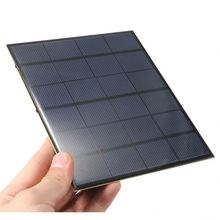 Monocrystalline solar panel 6V 3.5W 580MA with USB cable mini Epoxy solar panel battery charger Free shipping