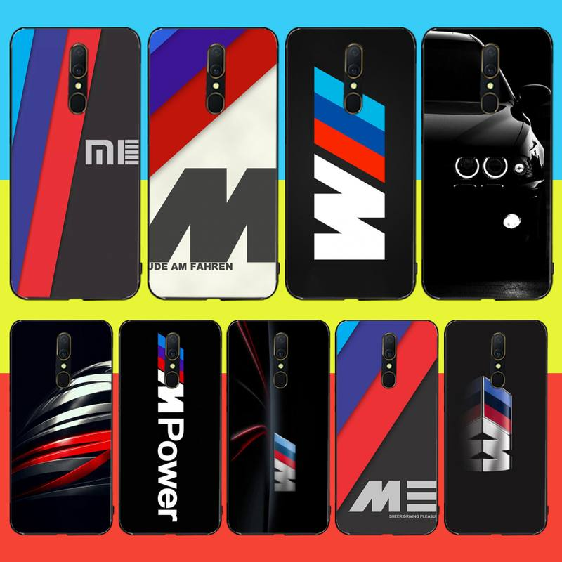 PENGHUWAN Hot Car BMW Logo Soft Silicone Black Phone <font><b>Case</b></font> For <font><b>Oppo</b></font> <font><b>A5</b></font> A9 <font><b>2020</b></font> Reno Z Realme5Pro R11 <font><b>case</b></font> image